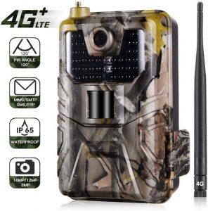 4G LTE GPS Trail Camera 16MP 1080P, caméra de Chasse sans Fil IP65