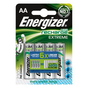 Energizer Piles Rechargeables AA, Recharge Extreme