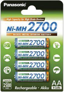 Panasonic BK-3HGAE/4BE panasonic Haute capacité 2700mAh