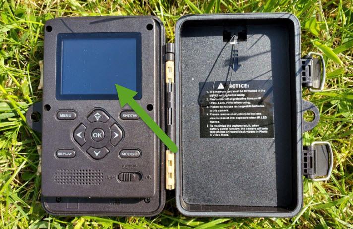 ecran LCD sur piège photographique